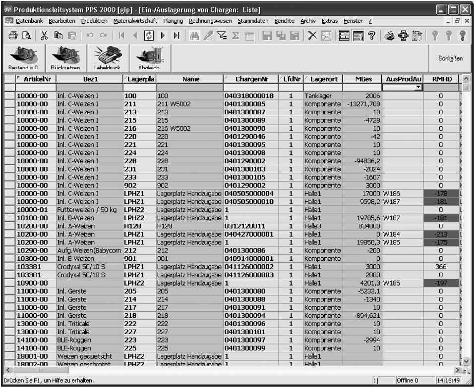Automation Batch SPS SCADA PLC MES PLS Visual Studio .net Chemie Futtermittel Lebensmittel Baustoffe