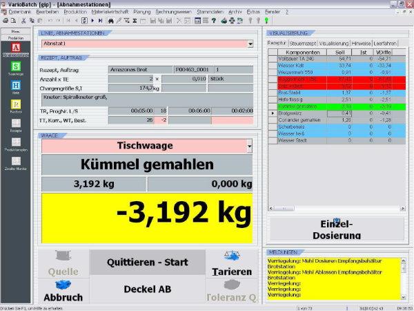 Automatisierung Bäckerei Schäfers Backwaren Sauerteig Fermenter Abnahmestation Mehlförderung Sauerteigherstellung Fermentation Kneter